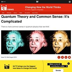 Quantum Theory and Common Sense - Tim Maudlin