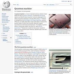 Quantum machine