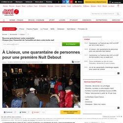 À Lisieux, une quarantaine de personnes pour une première Nuit Debout