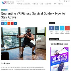 Quarantine VR Fitness Survival Guide - How to Stay Active
