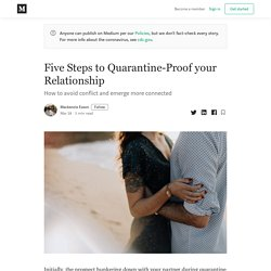 Five Steps to Quarantine-Proof your Relationship