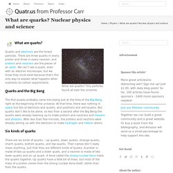 What are quarks? Nuclear physics and science - Quatr.us Study Guides