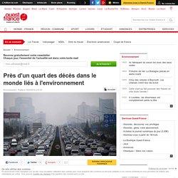 Près d'un quart des décès dans le monde liés à l'environnement