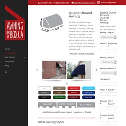 Buy Commercial Patio Awnings - www.awninginabox.ca