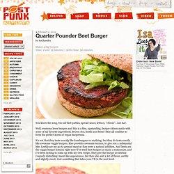 Quarter Pounder Beet Burger