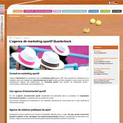 agence marketing sportif et relations publiques Paris