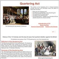 Quartering Act of 1774 ***