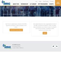 Quarterly IoT Buyers' Index - IoT M2M Council