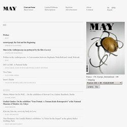 MAY, Quarterly Journal » Current Issue