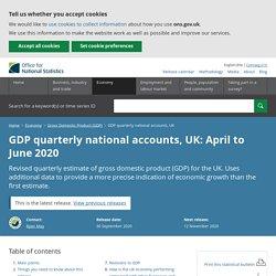 GDP quarterly national accounts, UK