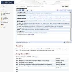 QuarterlySchedule < Main < TWiki