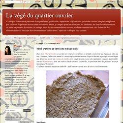 Végé cretons de lentilles maison (vgl)