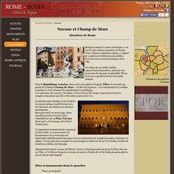Quartier de la Place Navone et Champ de Mars à Rome