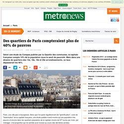 Des quartiers de Paris compteraient plus de 40% de pauvres