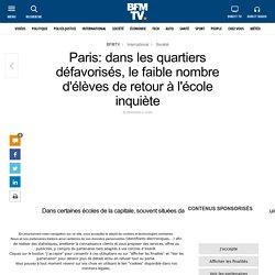 Paris: dans les quartiers défavorisés, le faible nombre d'élèves de retour à l'école inquiète