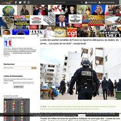 La liste des quartiers sensibles de France où règnent la délinquance, les dealers, les armes et les islamistes… Les zones de non-droit