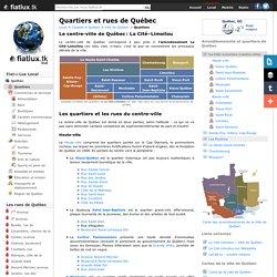 Quartiers et secteurs de la Ville de Québec - Québec local