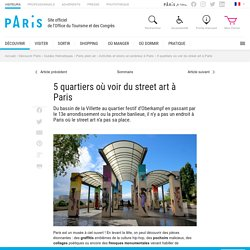 5 quartiers où voir du street art à Paris - Office du Tourisme de Paris