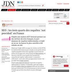 """SEO : les trois quarts des requêtes """"not provided"""" en France"""