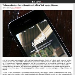 Trois quarts des réservations Airbnb à New York jugées illégales