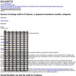 Quartz sold by Atlantic Media to Uzabase of Japan