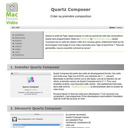 Quartz Composer : initiation