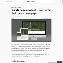 Quartz has a new look—and for the first time, a homepage - Quartz