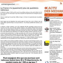 La France n'a (quasiment) plus de quotidiens nationaux
