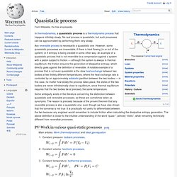 Quasistatic process