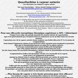 Quasiturbine - Moteur à vapeur saturée - Une alternative aux turbines à vapeur saturée
