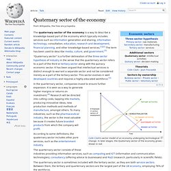 Quaternary sector of the economy