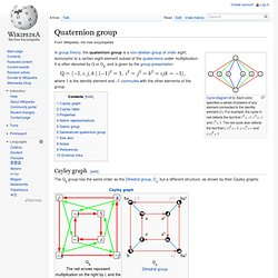 Quaternion group