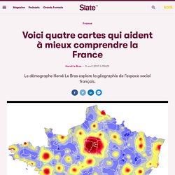 Voici quatre cartes qui aident à mieux comprendre la France