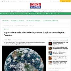 Quatre cyclones, dont Dorian, sur une image satellite