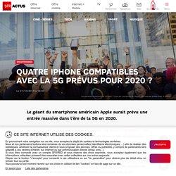 Quatre iPhone compatibles avec la 5G prévus pour 2020 ?