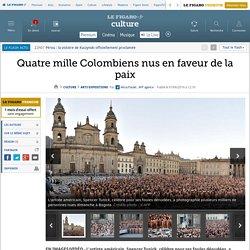Quatre mille Colombiens nus en faveur de la paix
