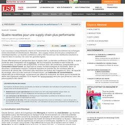 Quatre recettes pour une supply chain plus... - Enquêtes sur la consommation en France
