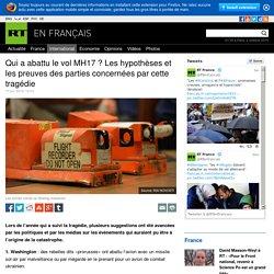 MH17 : quatre versions du crash du Boeing 777 en Ukraine