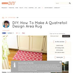 Quatrefoil Design Floor Cloth