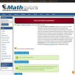 exercices de maths en classe de quatrieme, fiches de mathematiques 6eme,5eme,4eme,3eme,2de,1ere,tnale.