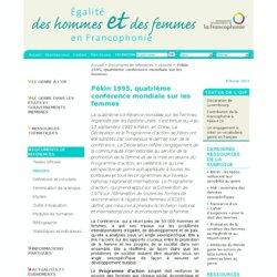 [OIF genre] - Pékin 1995, quatrième conférence mondiale sur les femmes