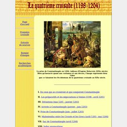 La quatri me croisade (1198-1204)