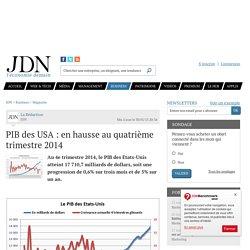 PIB des USA : en hausse de 1,5% au deuxième trimestre2014