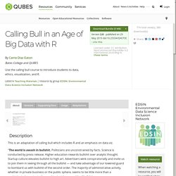 QUBES - Resources: Calling Bull in an Age of Big Data with R