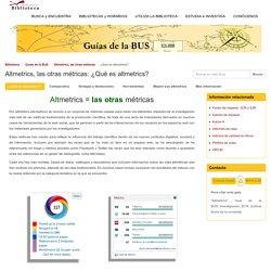 Altmetrics, las otras métricas (U. Sevilla)