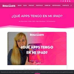 ¿Qué apps tengo en mi iPad?