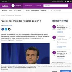 """Que contiennent les """"Macron Leaks"""" ?"""