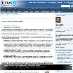 ¿Qué es un Data Warehouse?