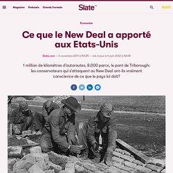 Ce que le New Deal a apporté aux Etats-Unis