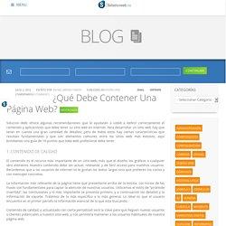 ¿Qué Debe Contener Una Página Web?